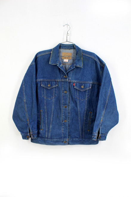 USA Made Levis Classic Blue Denim Jacket | Size L