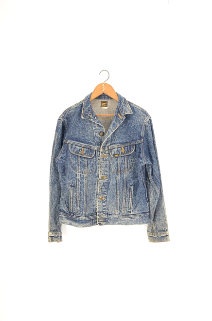 Lee USA Made Dark Acid Wash Denim Jacket