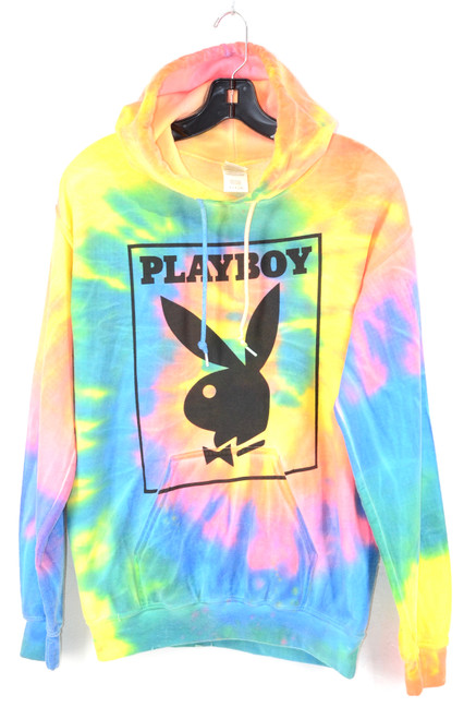 PLAYBOY Tie Dye Hoodie Gildan Heavy | Size S
