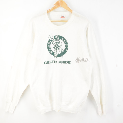 SIGNED Boston Celtics USA Made Raglan Crewneck Sweatshirt Terry Rozier| XL
