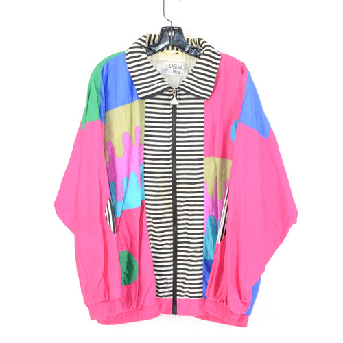 """Super Funky Fresh"" Crazy Print Windbreaker XXL"