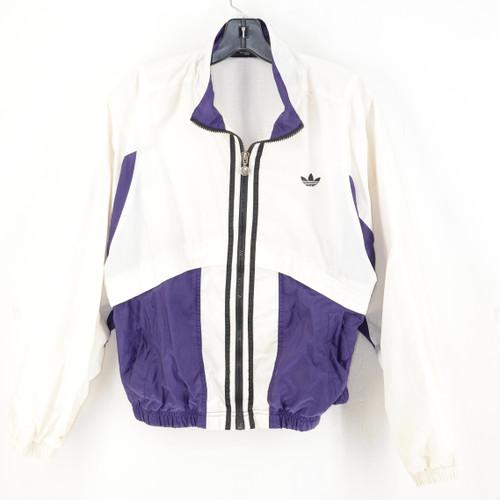 Classic Adidas Purple & White Zip Windbreaker