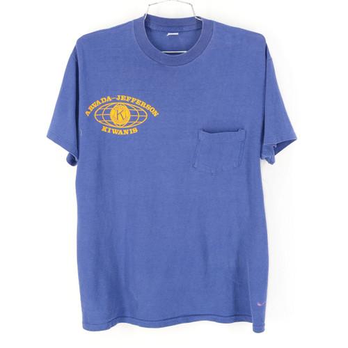 "No Brand ""Arvada Jeferson Kiwanis"" Navy T Shirt & Pocket"