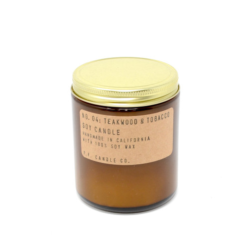 P.F. Candles CA - No. 04 Teakwood & Tobacco Soy Wax Candle
