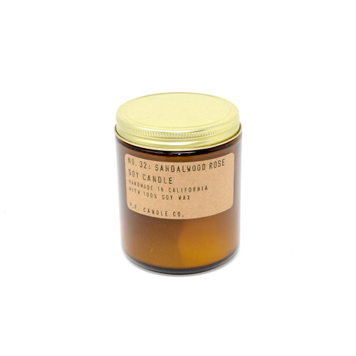 P.F. Candles CA - No. 32 Sandalwood Rose Soy Wax Candle