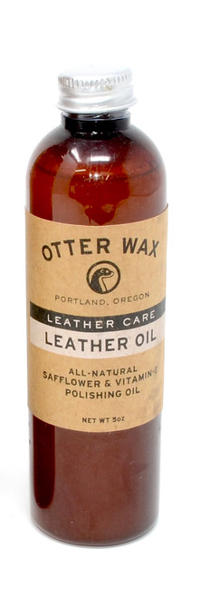 Otter Wax - Leather Oil | Safflower & Vitamin E Polishing Oil | Travel Size