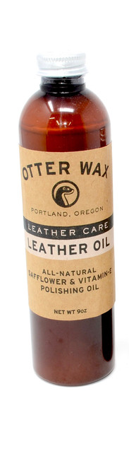 Otter Wax - Leather Oil | Safflower & Vitamin E Polishing Oil | Large Bottle