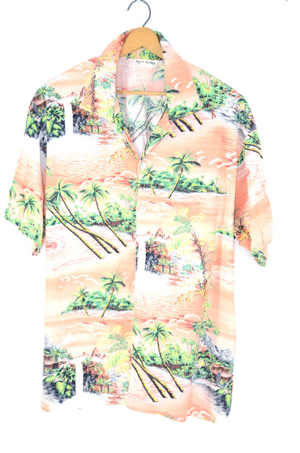 Pink Vanilla Sunset Hawaiian Shirt Cotton Rayon Blend