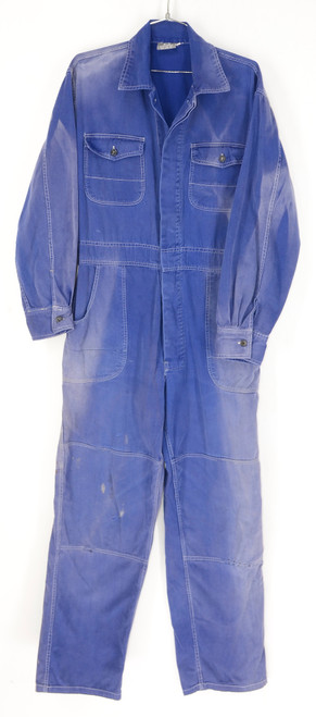 Sun Faded European Blue Work Coveralls. Size 42. Large