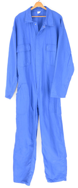 Bright Blue European Work Coveralls. Size 48. X-Large.
