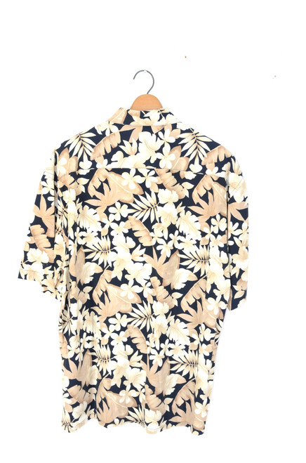 Coffee & Vanilla Floral Hawaiian Shirt | Men's XL