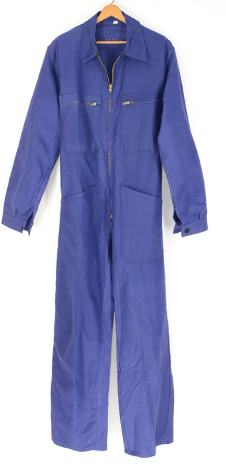 Dark Blue Deadstock European Work Coveralls.  Size 36. Small.