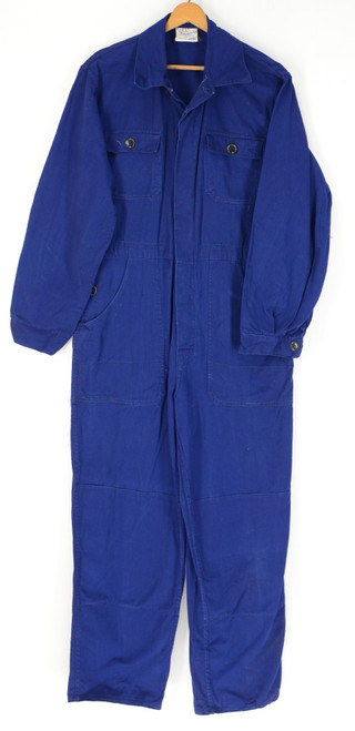 Deep Blue Cotton Friendship Work Coveralls. Size 40. Medium.