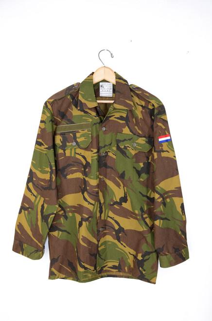 Belgian Camouflage Lightweight Military Shirt. Size 38. Medium.