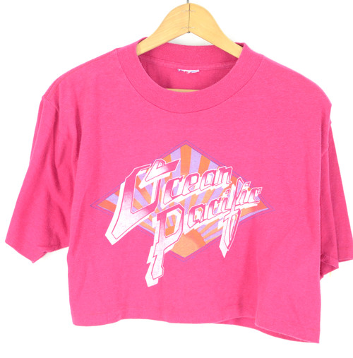 1983 Ocean Pacific Hot Pink Crop T Shirt
