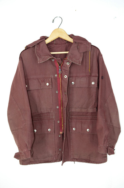 Over-Dyed Swiss Military Field Jacket. Size 40. Medium.