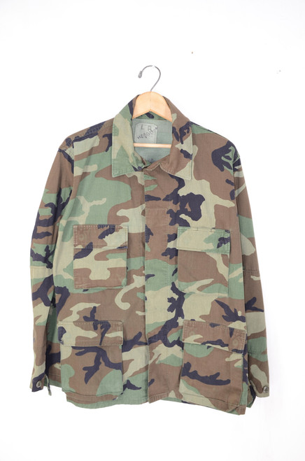 US Military Camouflage Field Jacket. 1980s-1990s. Size 42. Large