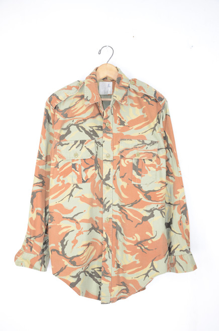 European Military Camouflage Shirt. Great Terracotta based Camo.