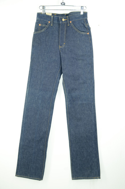 "Lee Riders Raw Denim Straight Leg Jeans. Deadstock. 26"" Waist."