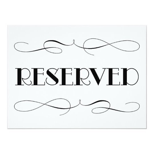 $95 Reserved Listing