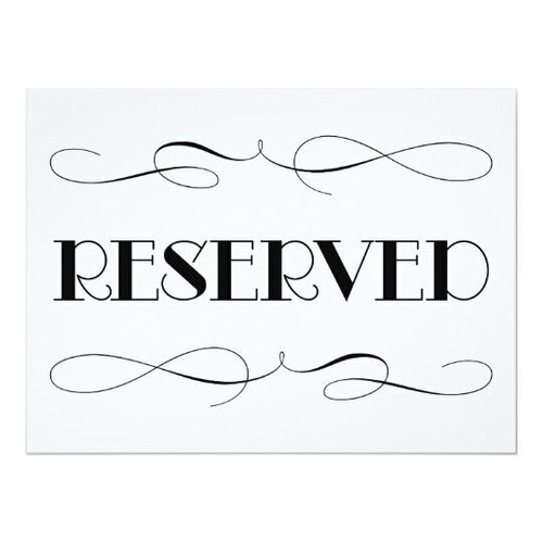 $110 Reserved Listing