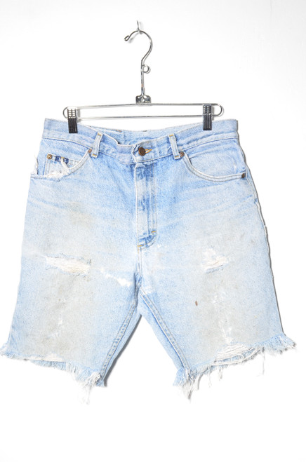 Lee Light Wash Distressed Cutoff Denim Shorts 30""