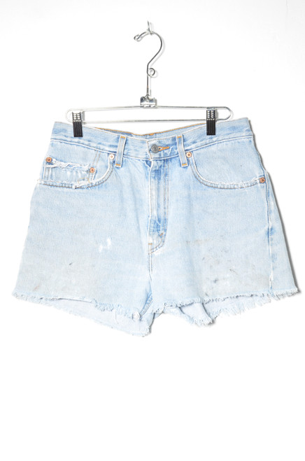 "Levis 505 Light Wash Cutoff Denim Shorts 30"""