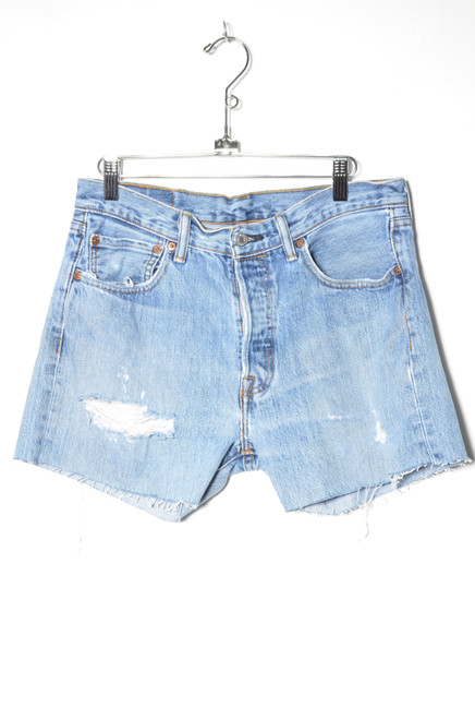 Levis 501 Distressed Cutoff Denim Shorts 31""