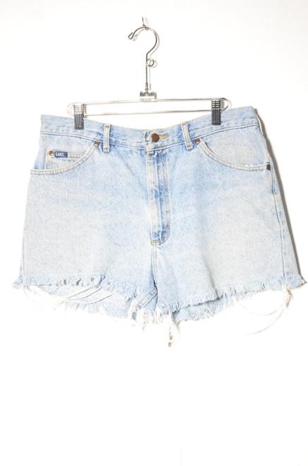 "Lee Made in USA Light Wash Cutoff Denim Shorts 33"""