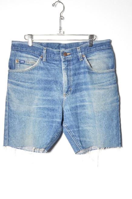 """Lee Made in USA Dark Wash Cutoff Denim Shorts 35"""" Waist"""