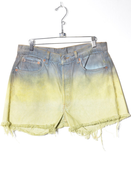 Levis 501 Made in USA Hand Dip-Dyed Cutoff Denim Shorts 32""