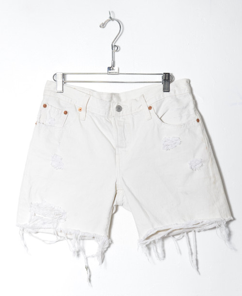 Levis 501 Distressed Cutoff Denim Shorts 30""