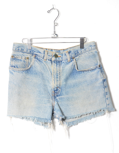"Levis 555 Light Wash Cutoff Denim Shorts 31"""