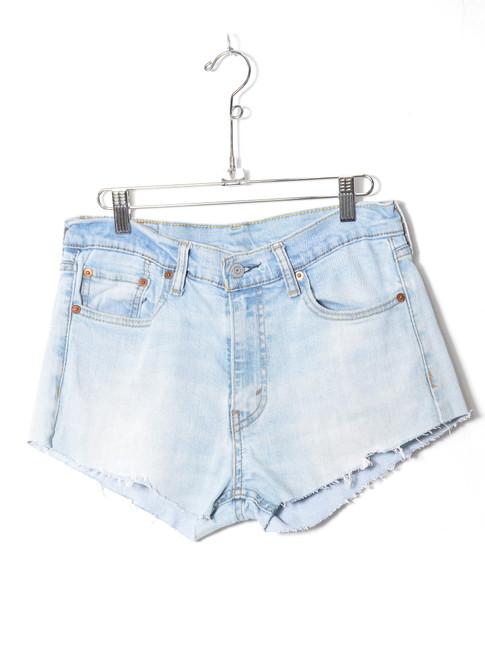 """Levis 513 Light Wash Cutoff Stretch Denim Shorts 30"""""""