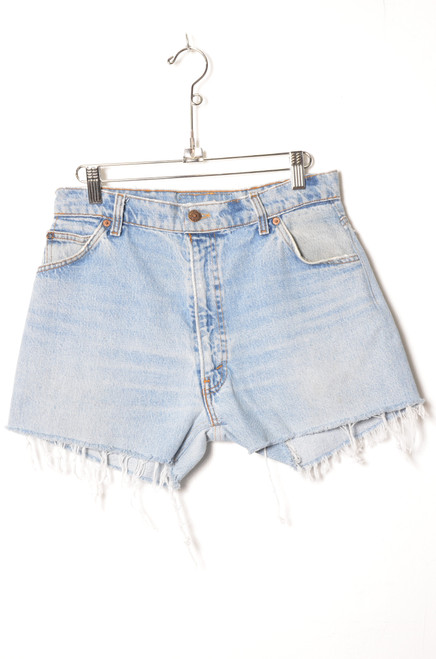 Levis Orange Tab Light Wash Cutoff Denim Shorts 29""
