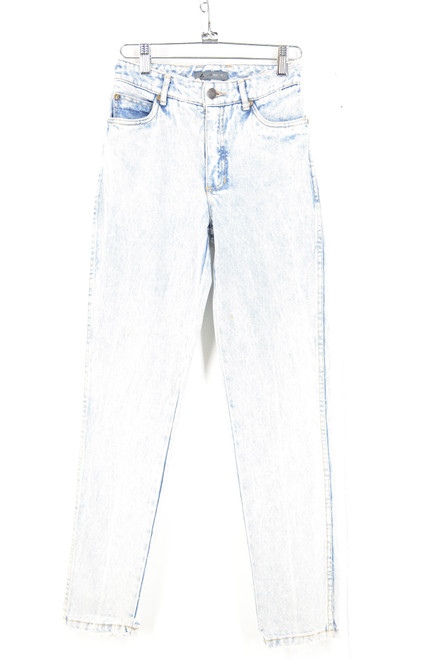 "Lizwear High Waist Acid Wash Tapered Denim 24.5""x28"""