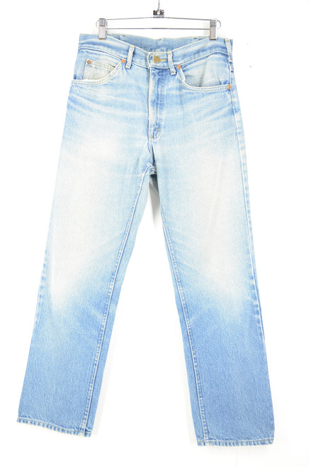 "Lee Made in USA Straight Leg Light Wash Denim 31""x29"""
