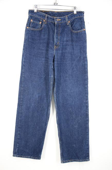 """Levis 566 Made in USA Dark Wash Baggy Denim 31""""x31.75"""""""