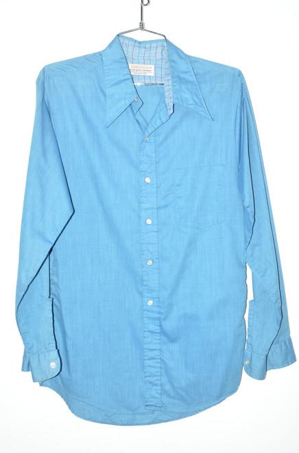 Brent Prep 70's USA Made Carolina Poly/Cotton Button Up | 40 Medium