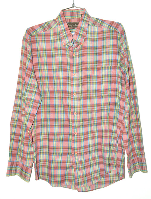 Craig Andrew Poly Cotton Striped Button Up | 42 Large