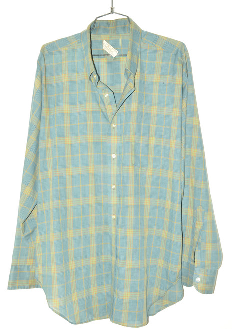 Harridge Row Poly Cotton Long-Sleeve Button Up Shirt | 52 XXL