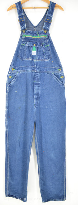 "Liberty Blue Medium Wash Fade |  Green Contrast Stitching | 36"" Waist"