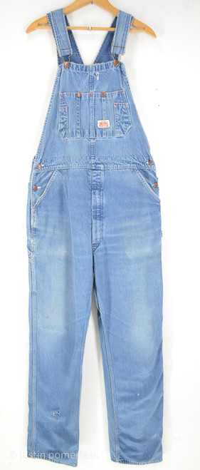"Round House Light Wash Denim Overalls | 38"" Waist"