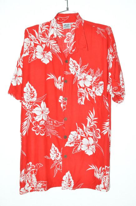 Red Orchid 100% Rayon Hawaiian Shirt | 48 XL