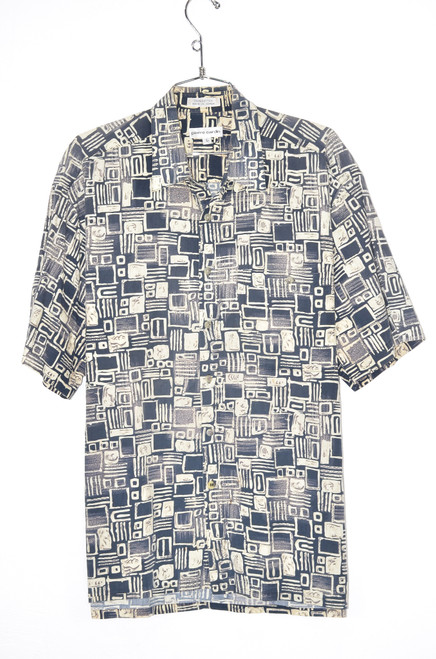 100% Cotton Tiki Blue Hawaiian Shirt | 48 XL