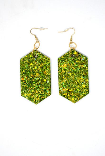 Peridot Diamonds | Handmade Glitter Earrings