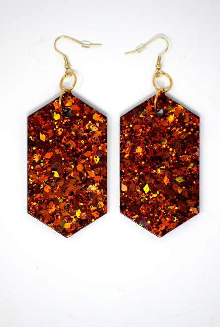 Fire Agate Diamonds | Handmade Glitter Earrings