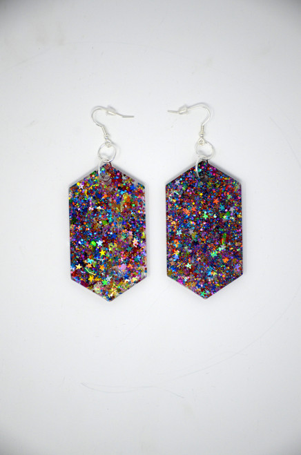 Mystic Topaz Diamonds | Handmade Glitter Earrings
