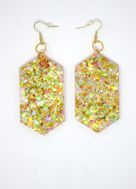 Pink Opal Diamonds | Handmade Glitter Earrings