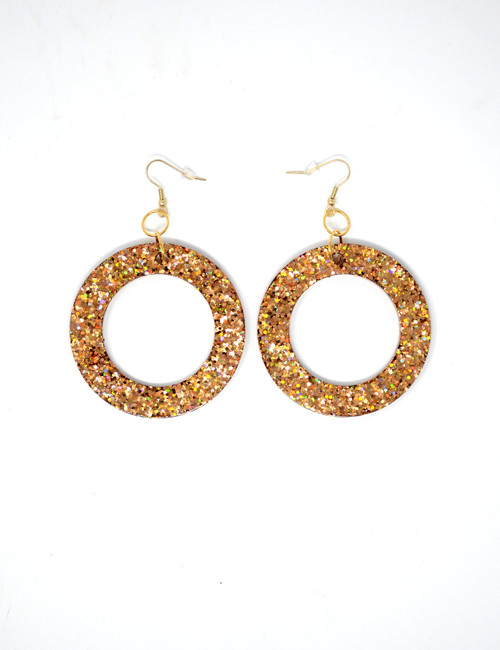 Copper Donuts | Handmade Glitter Earrings